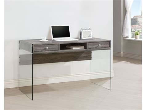 Grey Computer Desk Contemporary Computer Desk Weathered Grey Finish