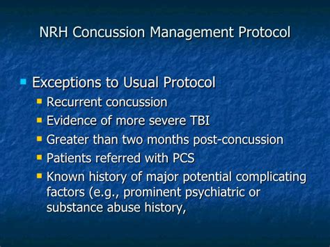 Substance Abuse Detox Protocol by Understanding Brain Concussion Facts Assessment And