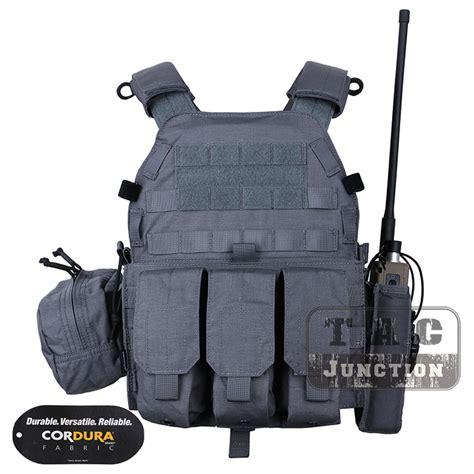 Mag Pouch Emerson Lbt 6094 emerson tactical modular molle lbt 6094a plate carrier vest w pouches wolf grey ebay