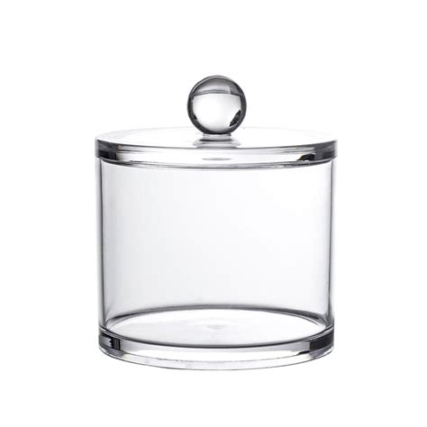 Bathroom Storage Jars Buy Clear Acrylic Quot Serene Quot Medium Storage Jar Back2bath