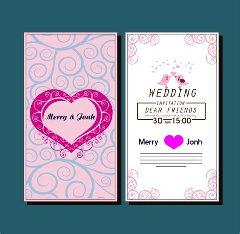 Wedding Card Design Patterns by Wedding Card Design Template Free Vector 22 844