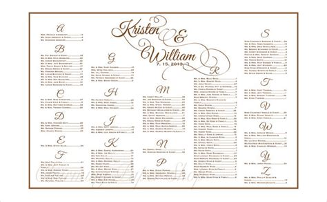 wedding seating chart template excel wedding seating chart template free premium templates