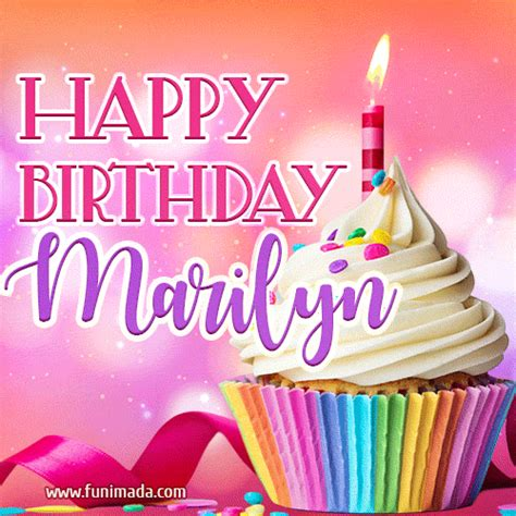 happy birthday marilyn lovely animated gif   funimadacom
