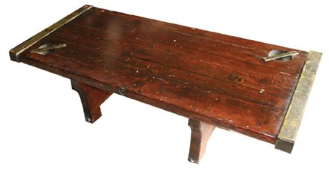 ship hatch cover made into coffee table lot 32