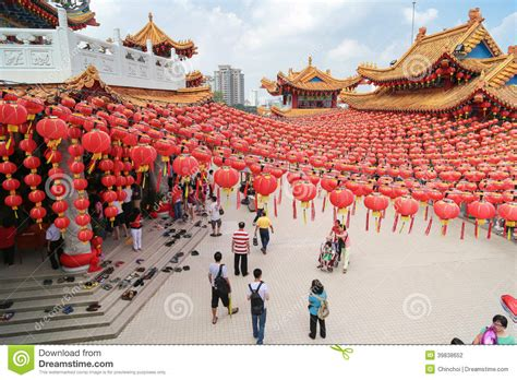visiting kl during new year new year lantern decorations at thean hou temple malaysia