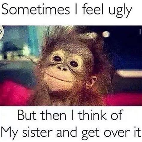 Funny Feel Good Memes - tag your ugly sister humor pinterest funny