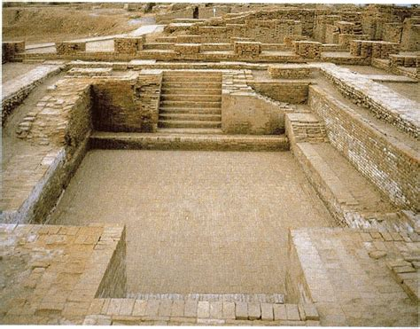 Indus Valley Plumbing by Indus Valley Civilization 2500 B 1800 B Mohenjo Daro