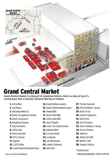grand los angeles map grand central market grand central market is a big part of