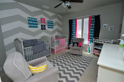 Wall Chevron Nursery Modern Home Interiors Cute Ideas Chevron Nursery Decor