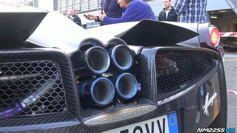 pagani exhaust video pagani huayra with custom exhaust spotted at monza