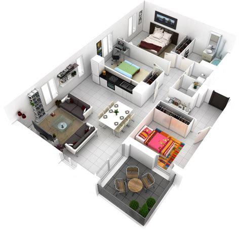 plano de departamento de  dormitorio en