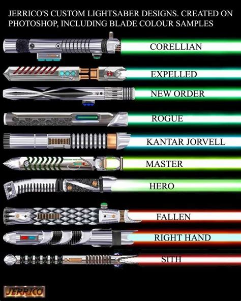 different lightsaber colors types of light sabers project 2 graphic mood