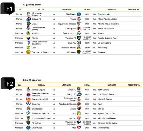 Calendario De Copa Copa Mx Ya Tiene Calendario Para El C2017 R 201 Cord