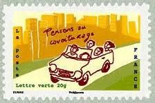 timbre 2014 ensemble agissons pour pensons au covoiturage carnet 171 ensemble agissons pour pr 233 server le climat 187 timbre de 2014
