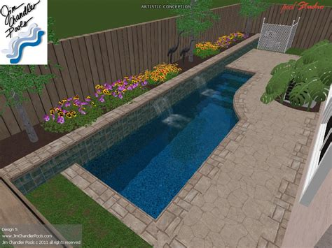 small rectangular backyard designs small rectangular inground pool designs with landscape for
