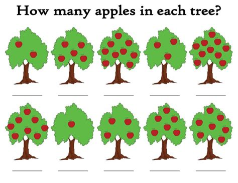 How Many Pieces Of Paper Does A Tree Make - quot how many apples in the tree quot free printable apple themed