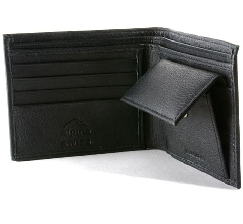 Bifold Coin Wallet mens leather bifold wallet coin pocket purse pouch alpine