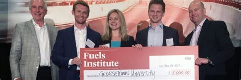 Georgetown Time Mba by Georgetown Mbas Win 2017 Fuels Institute Competition