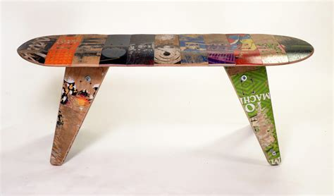 how to make a skateboard bench deckbench recycled skateboard bench contemporary
