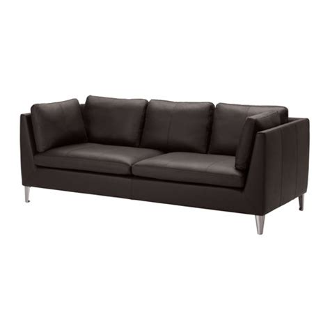 leather sofas ikea stockholm three seat sofa seglora dark brown ikea