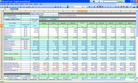 business template excel free budgeting excel templates spreadsheet