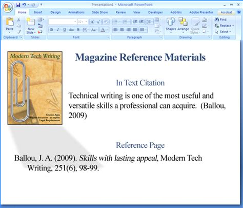 how to use apa format in powerpoint techwalla