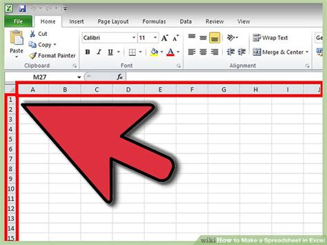 How To Make A Microsoft Excel Spreadsheet by How To Make A Spreadsheet In Excel 14 Steps With Pictures