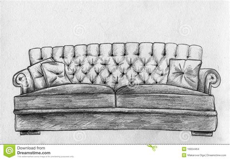 Sofa Sketch Freehand by Sofa Pencil Sketch Stock Illustration Image Of Retro
