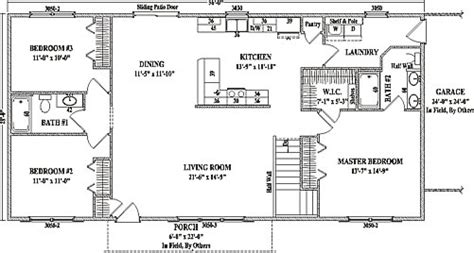 Two Story Modular Floor Plans jamestown iii by wardcraft homes ranch floorplan
