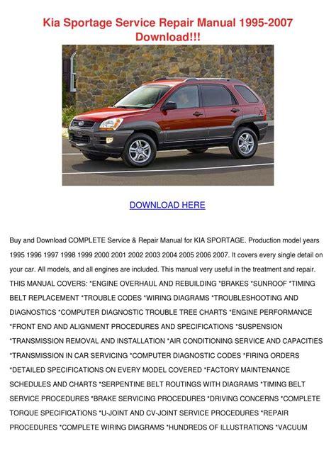 auto repair manual online 1995 kia sportage transmission control 1995 2002 kia sportage service repair manual download autos post