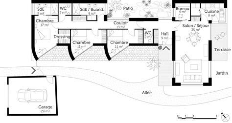 Plan D Architecte De Maison by Plan Maison D Architecte De Plain Pied Ooreka