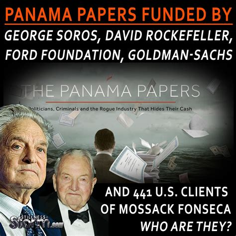 goldman sachs illuminati panama papers funded by george soros david rockefeller