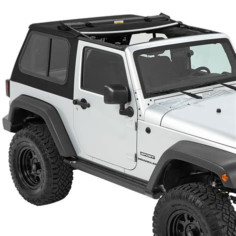hybrid jeep wrangler bestop trektop pro hybrid soft top black twill