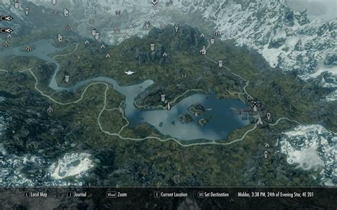 a quality world map a quality world map and solstheim with roads at skyrim