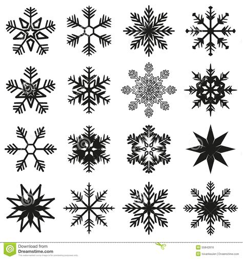 ice crystal set stock vector illustration of snow winter
