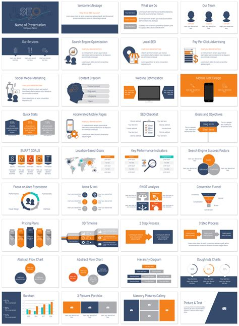 product layout powerpoint seo powerpoint template template