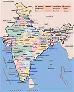 Map Of India Cities by Cities Map Of India With States Capitals Amp Tiurist Places