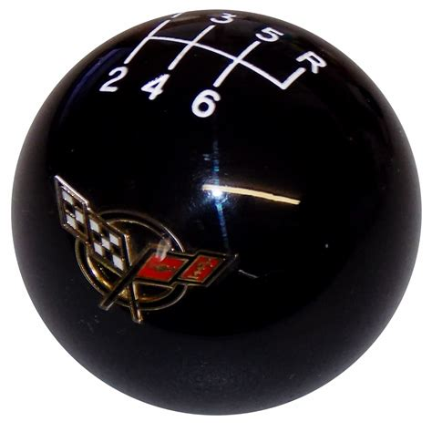 Corvette C5 Shift Knob by Black C5 Flags With 6 Speed Pattern Shift Knob