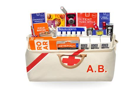 Lu Emergency Onlite for hipsters earthquake survival kit containing gourmet