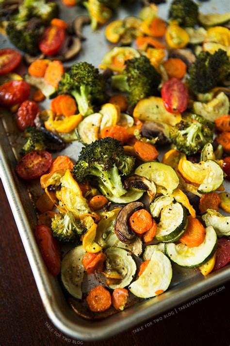 roasted vegetables table for two 174