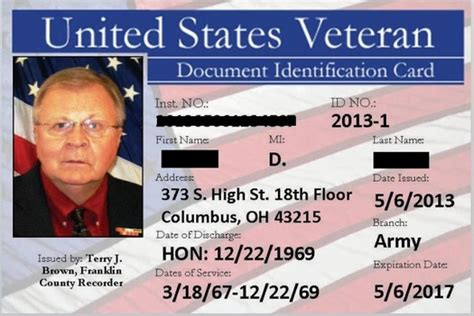 va cards ohio counties thanking veterans with id card program
