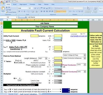 Circuit Calculation Spreadsheet by 17 Best Images About Testing And Commissioning On