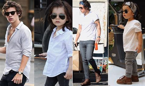 this 2 year old harry styles mini me is showing one meet michael rangamiz harry styles s two year old mini me