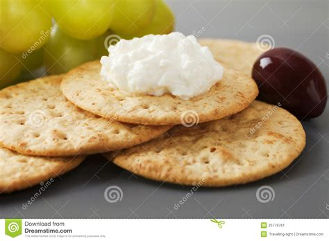 Cottage Cheese Crackers by Cottage Cheese With Crackers Stock Image Image 25779761
