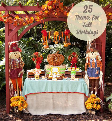 party themes for the fall 25 themes for fall birthdays