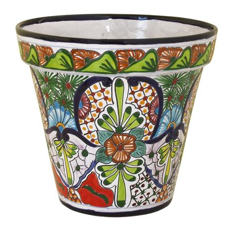 Mexican Planters Large by Talavera Planters Collection Talavera Planter Tp175