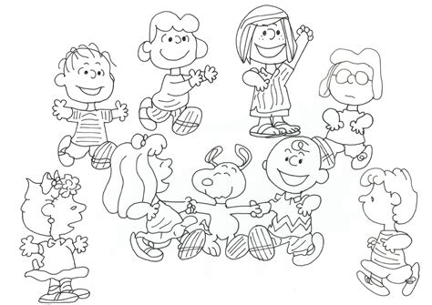 coloring pages peanuts characters charlie brown and peanuts coloring pages womanmate com