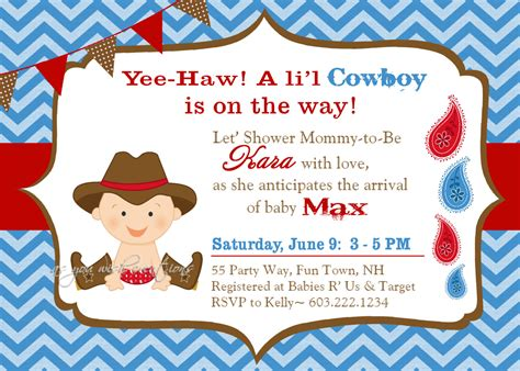 Cheap And Baby Shower Invitations by Theme Cheap Cowboy Baby Shower Invitations Cowboy Baby