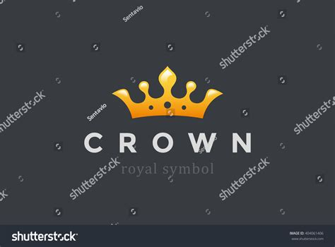 vector crown logo design abstract logo template vector king crown abstract logo design vector stock vector