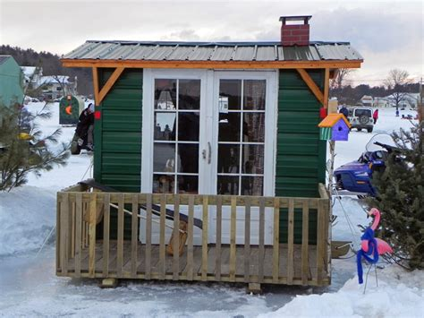 small shack plans ice fishing shack hut shanty mania ten very cool lil